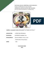 ANALISIS Y COMENTARIO DE LA NOVELA LA CIUDAD Y LOS PERROS imprimir.docx