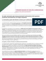 Nota de Prensa Pensamiento en Español