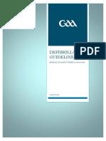 GAA Defibrillator Guidelines