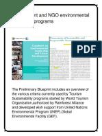 Government and NGO Environmental Protection Programs