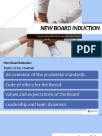 New Board Induction