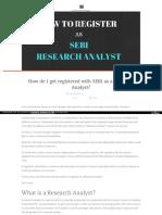 How to Become SEBI Registeered Investor