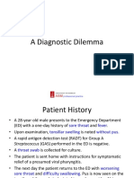 CMMC Case- A Diagnostic Dilemma
