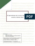 El Aprendizaje de La Lecto Escritura Metodo Global