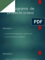 Cronograma de Proyecto (Casa) SJL