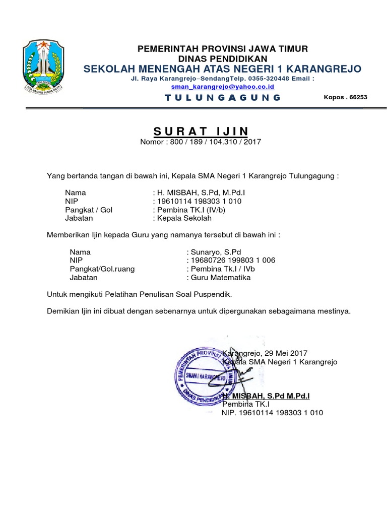 Kop Surat Dinas Pendidikan Provinsi Jawa Timur - Kumpulan ...
