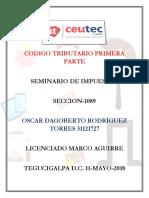 OscarRodriguez 31121727 Tarea-01 Codigo Tributario Primera Parte