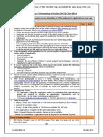 OCI Checklist