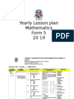 Yearly Lesson Plan Mathematics Form5 2019