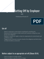 rights of setting off by employer