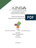 Teorema de Pitagoras material de demostración