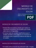 Modelo de Crecimiento de Solow
