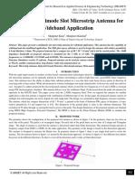 Design of Multimode Slot Microstrip Antenna for Wideband Application
