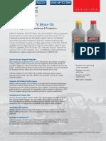 Amsoil 10w40 and 5w50 Synthetic Atv Utv Motor Oil Auv40 Auv50