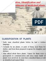 Classification, Identification and Chemical Constituents of Medicinal Plants
