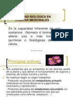 Actividad Biològica de Las Plantas. 2018