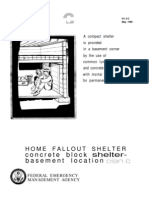 FEMA Home Fallout Shelter Plan