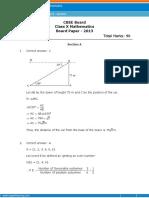 Class 10 Mathematics 2013 Solutions 1