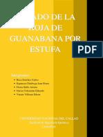Articulo Secado de Hoja de Guanabana Por Estufa