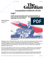 Why is populism suddenly all the rage? | World news | The Guardian
