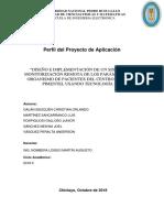 Perfil Proyecto de Aplicación Grupo 1 Telecomunicaciones 2