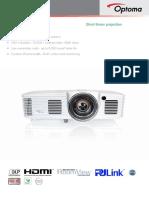 Optoma GT1080 Projector Manual