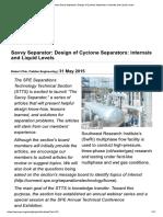 Design of Cyclone Separators- Internals and Liquid Levels