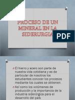 Proceso de Un Mineral en La Siderurgia