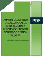 Analisis Del Manejo Del Agua Potable