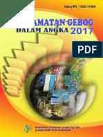 Kecamatan Gebog Dalam Angka 2017