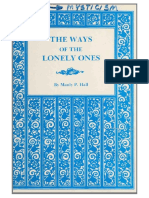Manly Hall - The Ways of the Lonely Ones