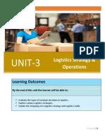 911860150Unit 3 Logistics Strategy and Operations