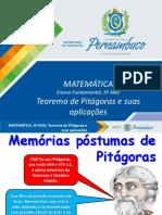 Aplic Do Teor de Pitágoras