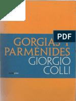 Giorgio Colli - Gorgias y Parménides