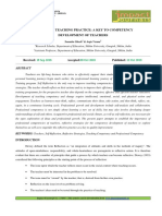 9. Format. Hum -Reflective Teaching Practice a Key to Competency Development of Teachers