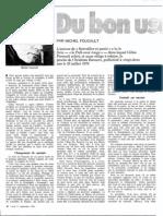 Foucault Bon Usage Du Criminel