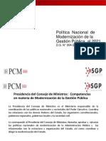 Politica Nac de Modernizacion de La Gestion Pública