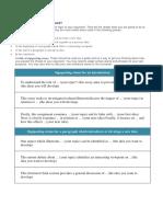 Signposting Sentences 1