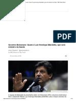 Governo Bolsonaro_ Quem é Luiz Henrique Mandetta, Que Será Ministro Da Saúde - BBC News Brasil