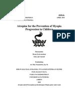 Atropin Untuk Pencegahan Perkembangan Miopia Pada Anak