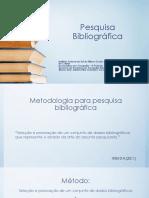 APRESENTAÇÃO PESQBIBLIOGRAFICA