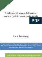 Journal - Treatment of Severe Falciparum Malaria