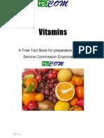 Vitamins Book Ppsc Mcq