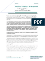 Defining the Benefits of Adopting a BPM Approach v4.3 OICAlliance