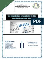 IFRS des immobilisations corporelles et des valeurs de placement