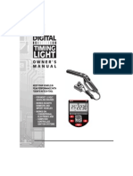 Digital Timing Light Owners Manual