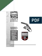 Digital Timing Light Owners Manual