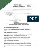 PREVENCION PRODUCTOS QUIMICOS