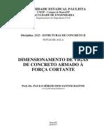 Cortante - Modelos de Cálculo