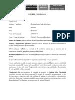 Informe Psicologico Trabajo y Salud